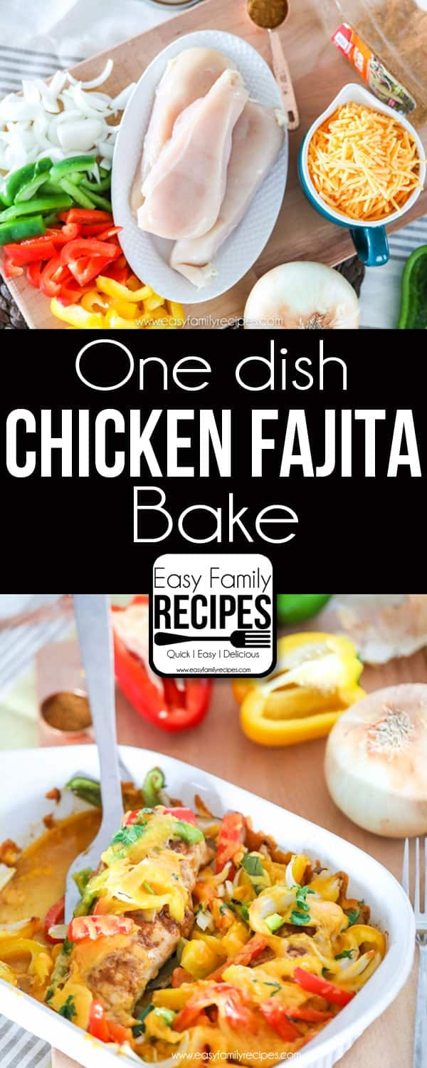 Baked Chicken Fajitas- My Favorite Easy Recipe