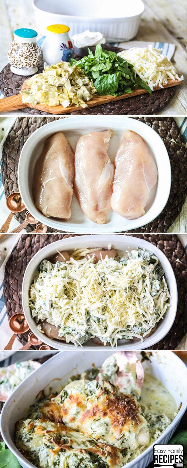 Easy Spinach Artichoke Chicken Dinner Recipe
