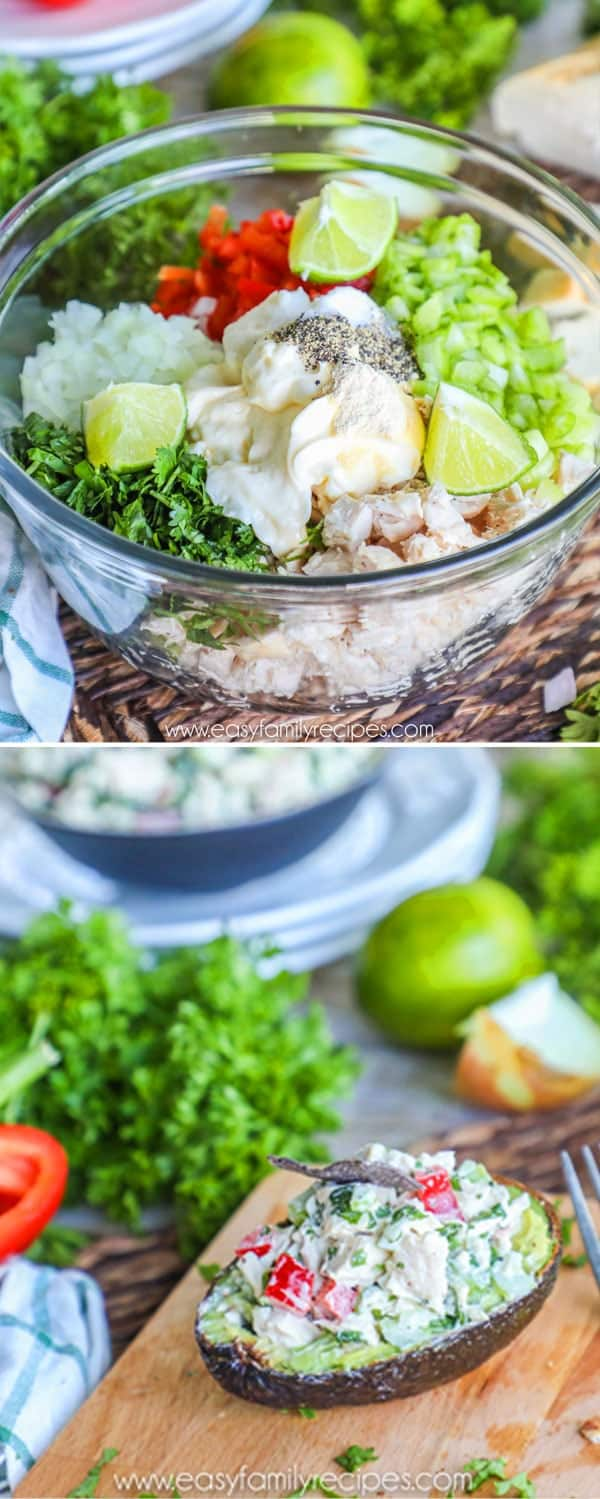Cilantro Lime Chicken Salad with Avocado
