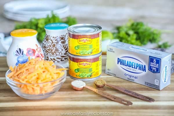 Green Chile dip ingredients