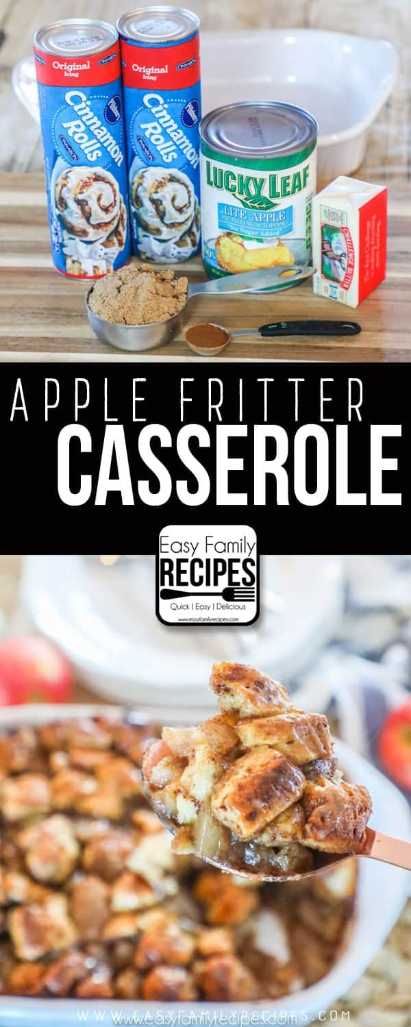 Apple Fritter Breakfast Casserole - Christmas Morning Breakfast