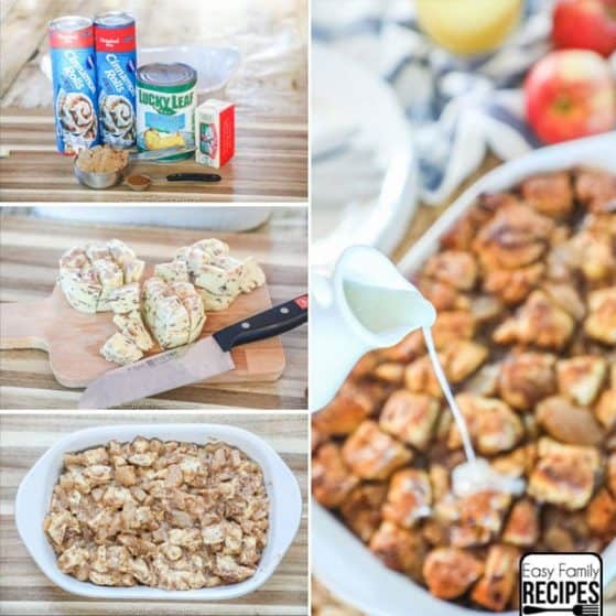 Apple Fritter Breakfast Casserole Step by Step