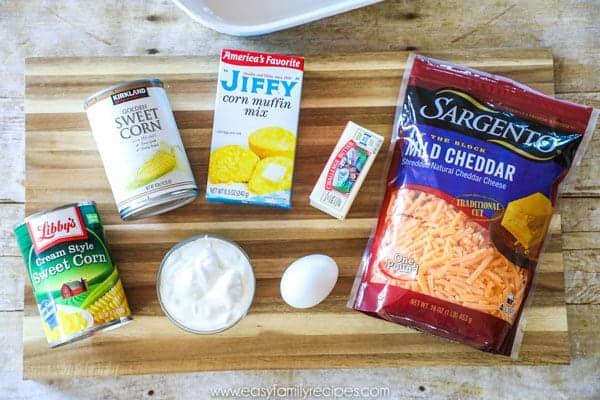 Ingredients Jiffy Corn Casserole