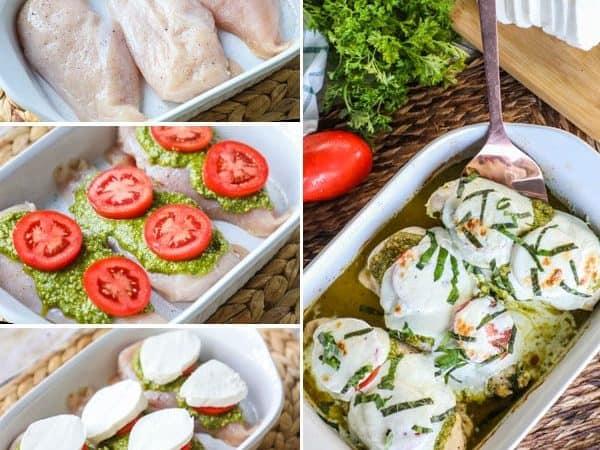 Caprese Chicken recipe instructions