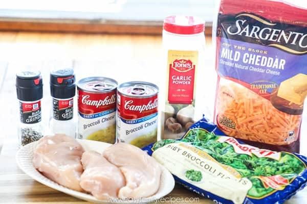 Chicken Broccoli Cheese Casserole Ingredients