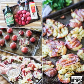 Garlic Smashed Potatoes Ingredients and Instructions