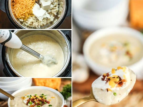 How to Make Cauliflower Soup in the Pressure Cooker