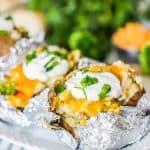 Chicken Broccoli Cheddar Baked Potato recipe