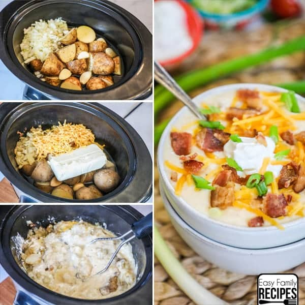 Crock Pot Loaded Baked Potato Soup · Easy Family Recipes