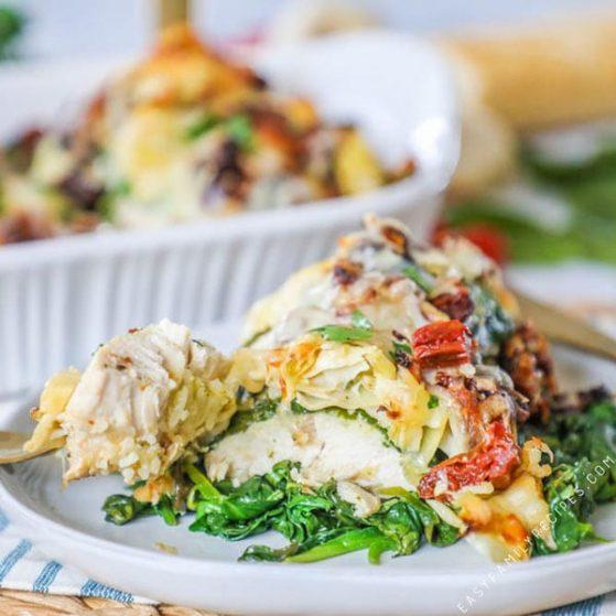 Tuscan Garlic Chicken with Spinach