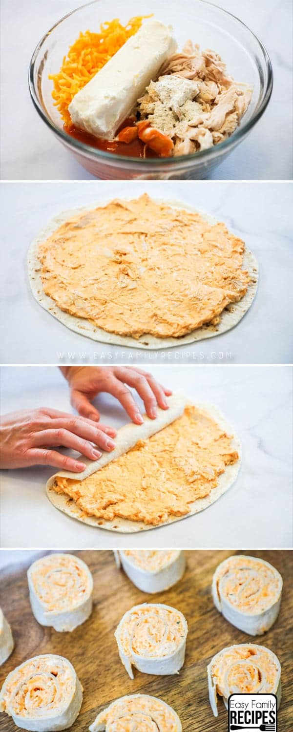 How to make the BEST Buffalo Chicken Roll Ups!