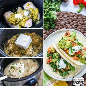 Green Chile Slow Cooker Chicken Tacos