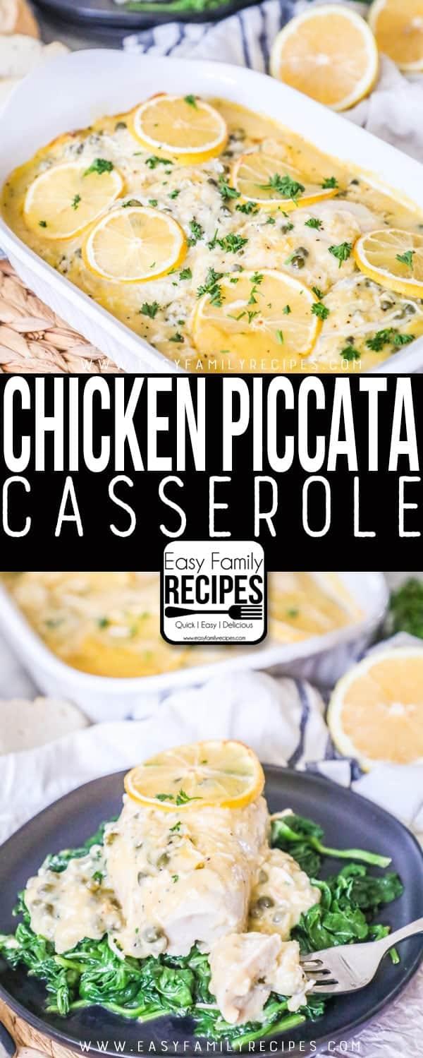 The BEST Chicken Piccata Casserole