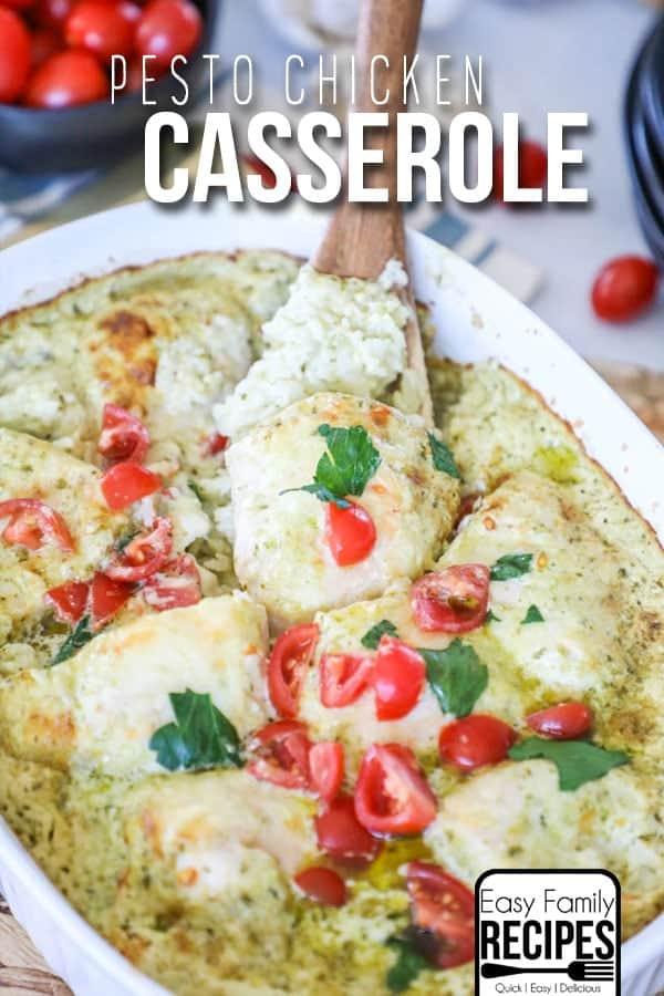 Easy Chicken Bruschetta Casserole