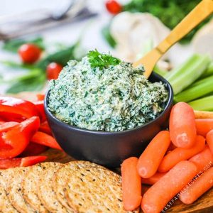 Cold Spinach Dip - Perfect for dipping veggies!