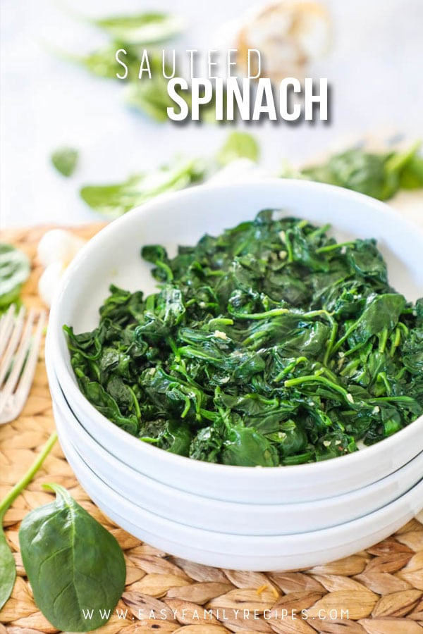 BEST EVER Garlic Sautéed Spinach