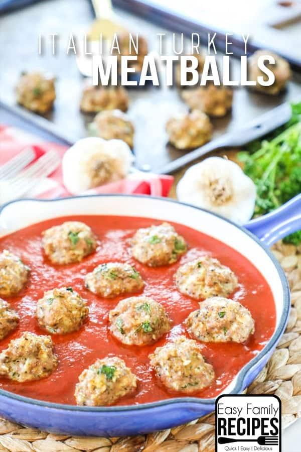 Best Ever Turkey Meatballs Easy Family Recipes