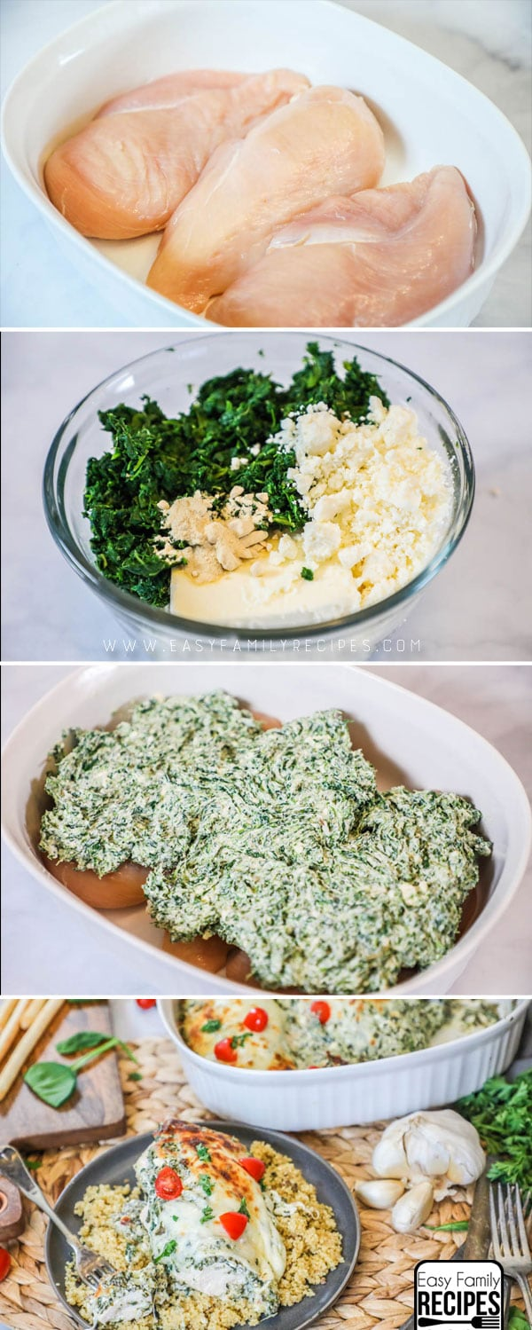 SO GOOD! How to Make Spinach and Feta Chicken