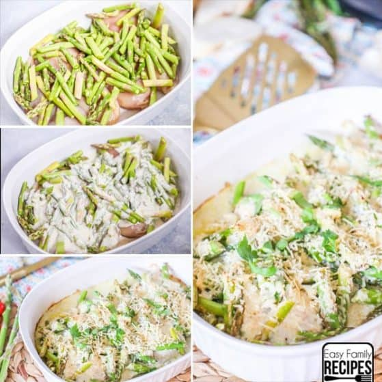 Oven Baked Lemon Asparagus Chicken