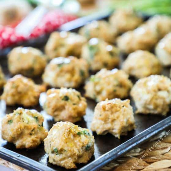 Homemade Ranch Chicken Meatballs