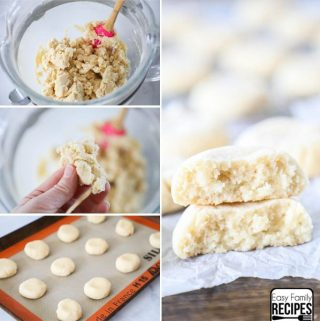 The Best Soft Sugar Cookie recipe step by step- Step 1: Make the dough, shape the cookies, bake