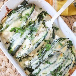 Chile Relleno Casserole being served