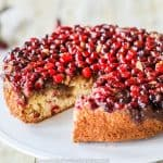 Cranberry Christmas Cake on platter