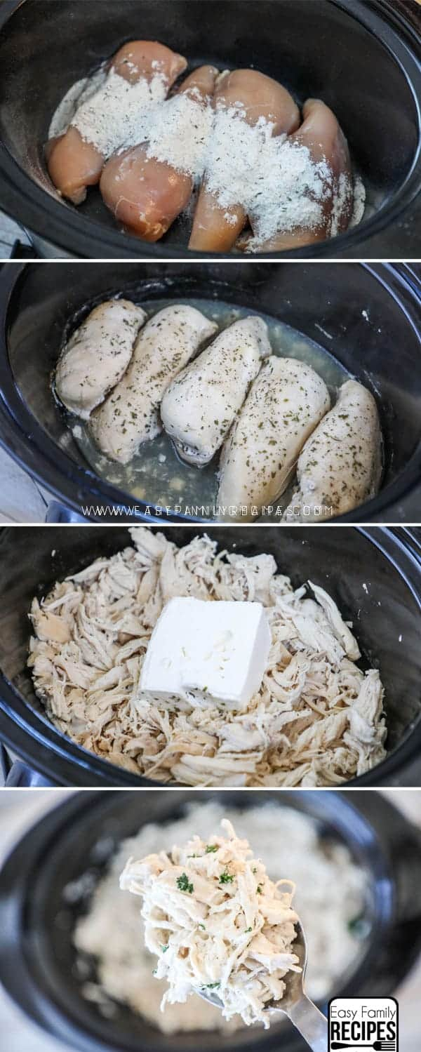 Steps to make Slow Cooker Ranch Chicken