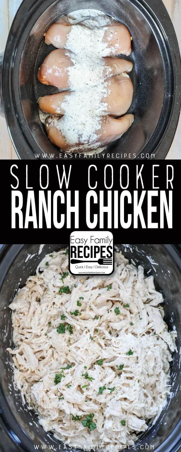 Delicious Slow Cooker Ranch Chicken will melt in your mouth.