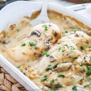 Recipe for The Best Baked Chicken Marsala