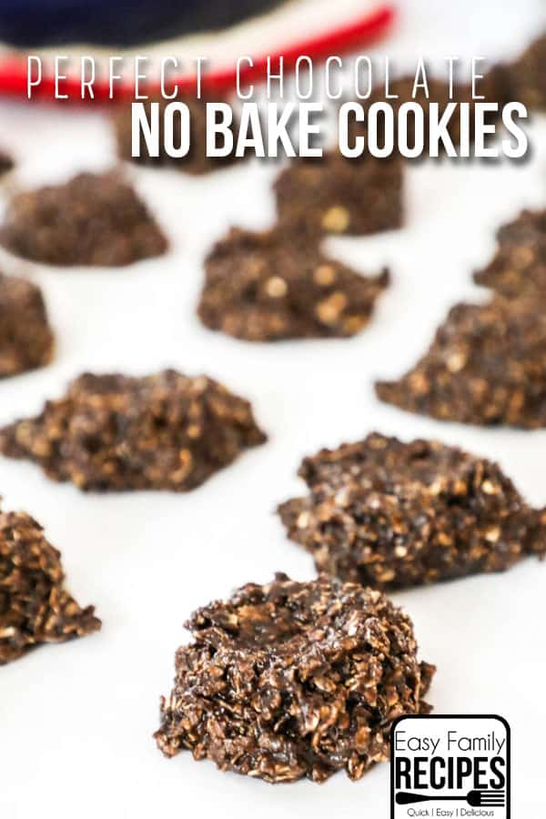 Chocolate No Bake Cookies dropped to cool