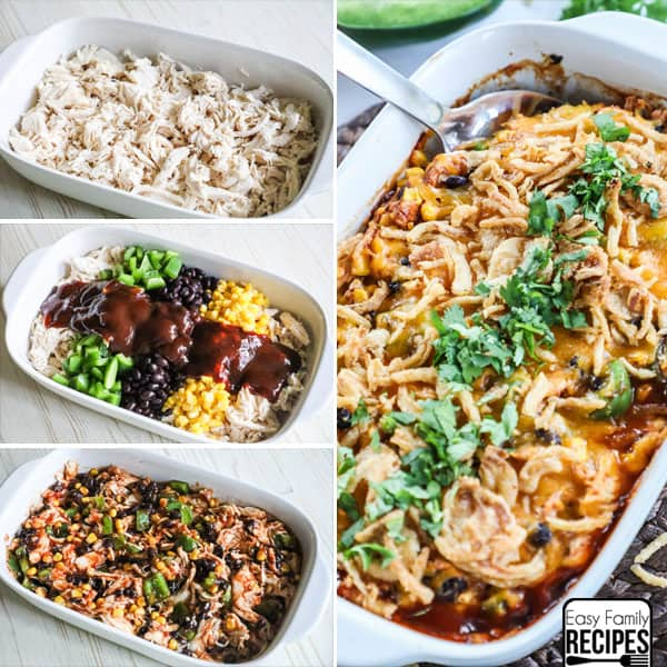 Shredded Bbq Chicken Casserole 183 Easy Family Recipes