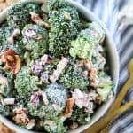 Broccoli Salad with Bacon Recipe - shown in bowl