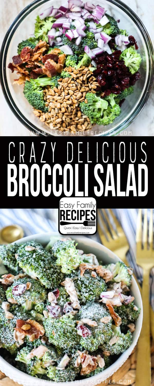 Broccoli Salad With Bacon Easy Family Recipes