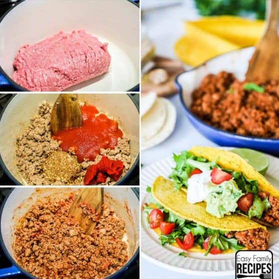 Ground Turkey Tacos are a delicious quick and easy dinner for a busy night.
