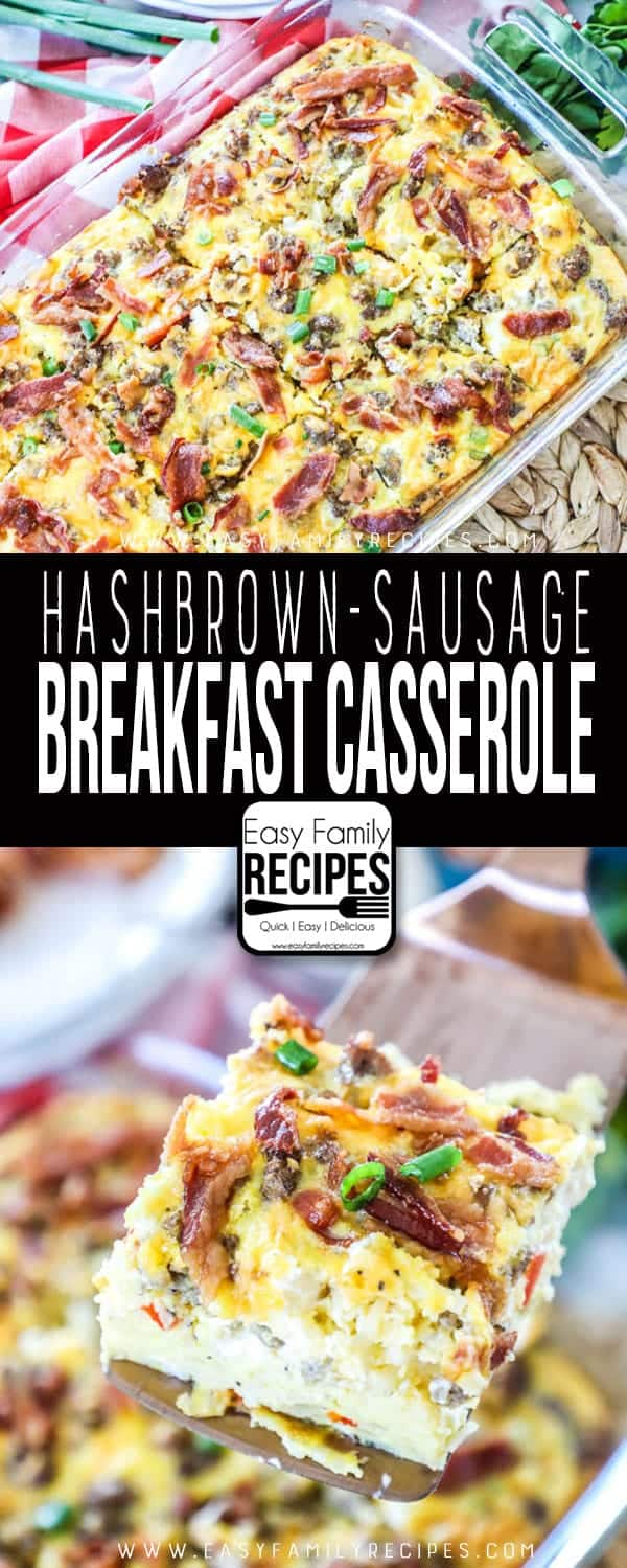 This breakfast sausage casserole is a crowd pleaser.