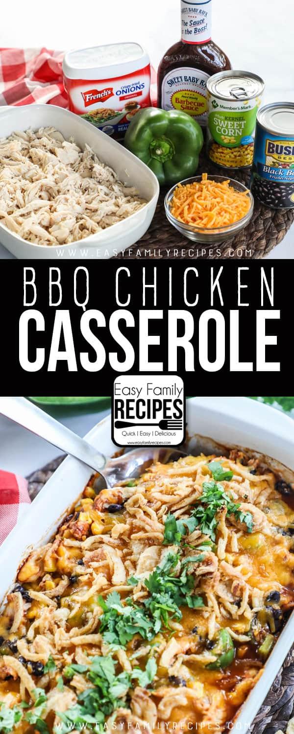 Shredded Bbq Chicken Casserole Easy Family Recipes