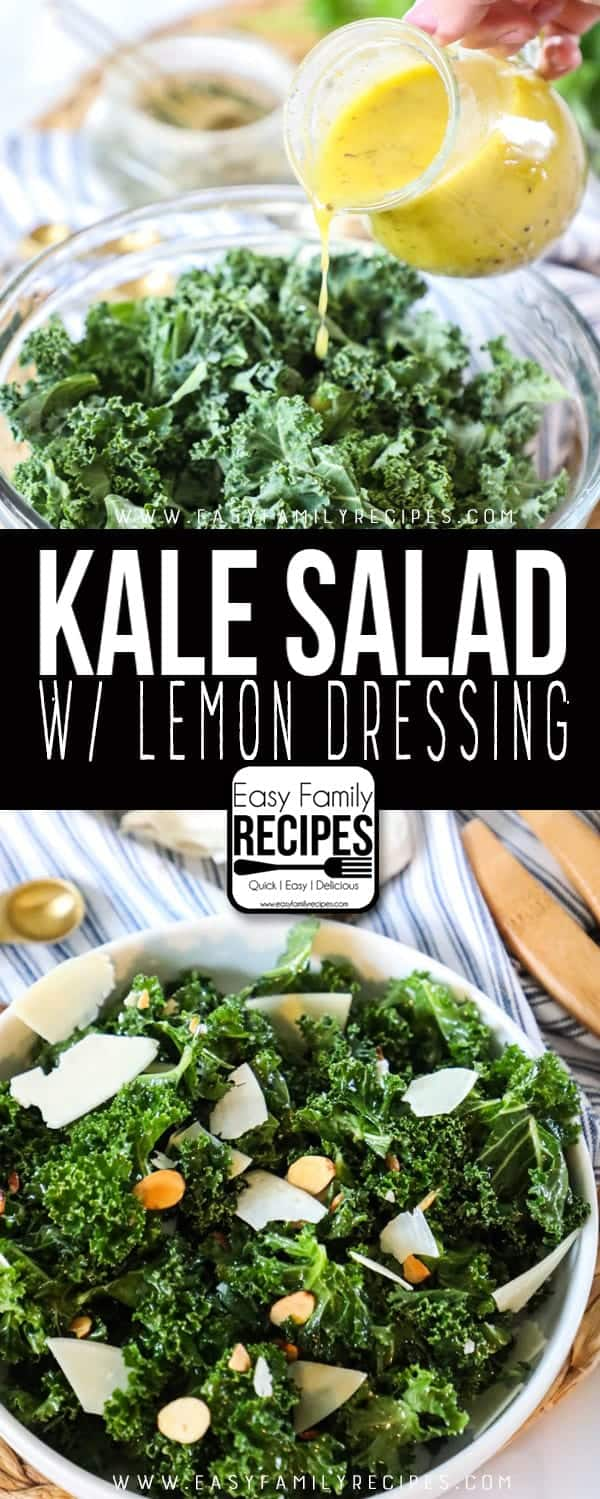 Super delicious and super easy Kale Salad.