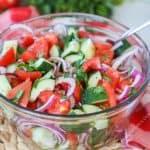 Recipe for Classic Cucumber Tomato Salad
