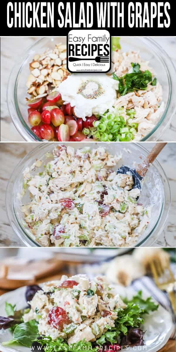 How to Make Chicken Salad with Grapes.