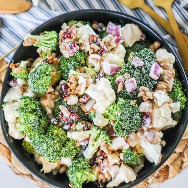 Best Ever Broccoli Cauliflower Salad Easy Family Recipes