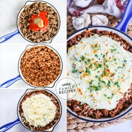 Steps to make Low Carb Skillet Lasagna