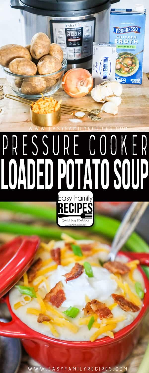 Delicious Instant Pot Loaded Baked Potato Soup