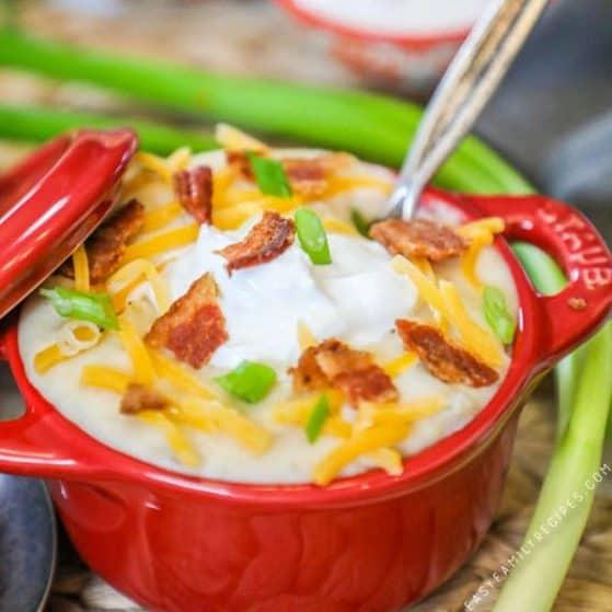 Recipe for Pressure Cooker loaded Potato Soup