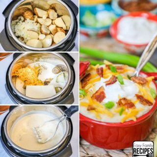 Instant Pot Loaded Baked Potato Soup perfect for any easy weeknight meal.