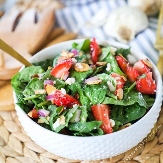 Recipe for Strawberry Spinach Salad.