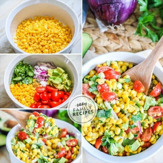 Mexican Corn Salad is quick and easy to make.