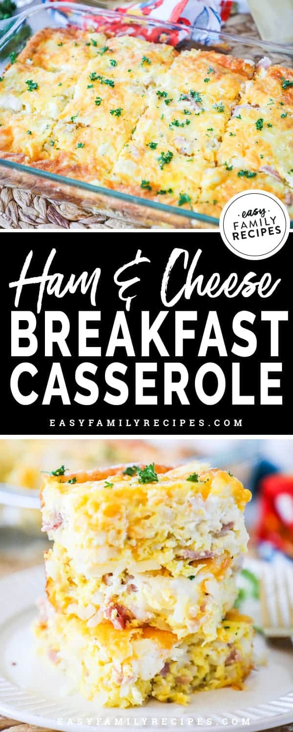Easy and Delicious Ham and Cheese Breakfast Casserole