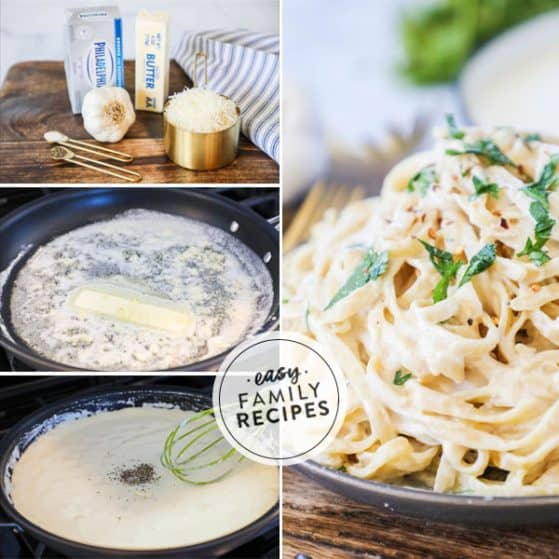 Easy Alfredo sauce steps in photos