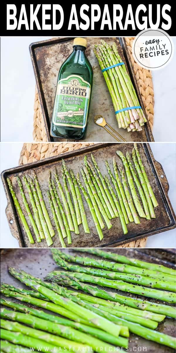 Simple steps to making baked asparagus.